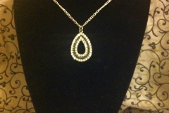 black and diamond teardrop