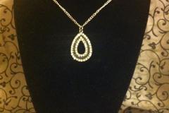 black and diamond teardrop