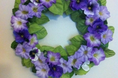 purple flowers close up