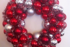 silver and red ornament